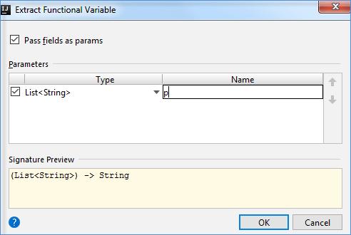 extrct funtional var parameter