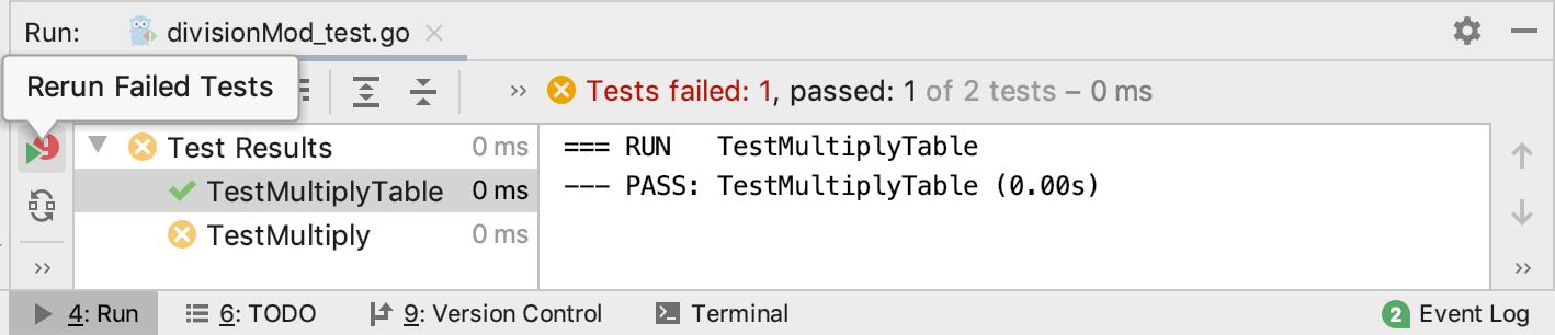Rerun failed tests