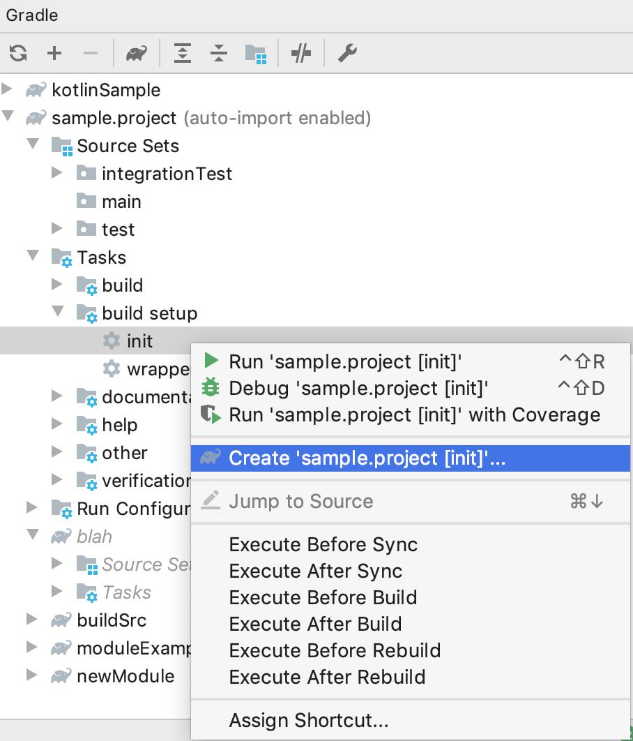 Create the task run configuration
