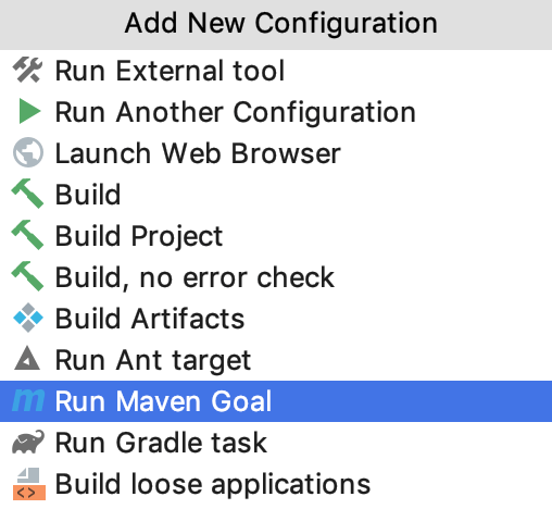 the Run/Debug configuration: Before Launch