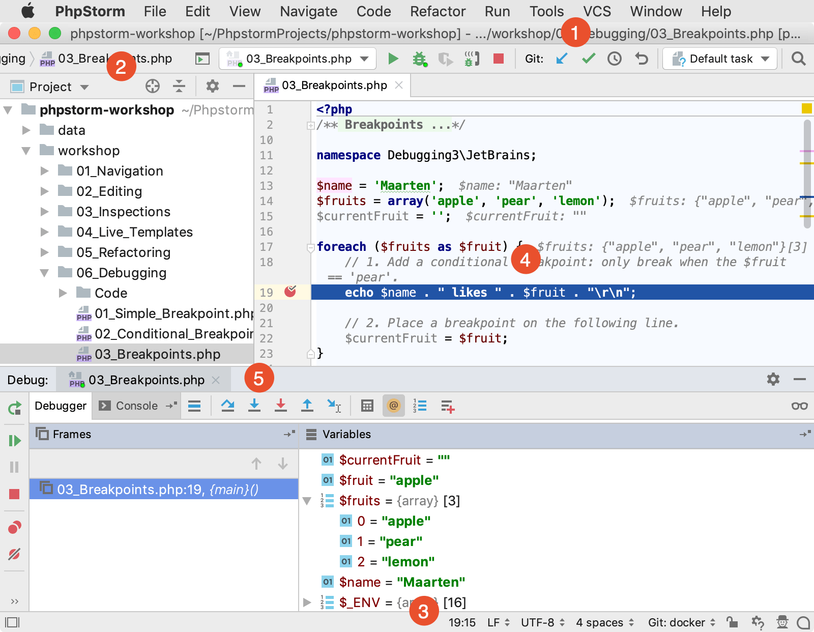 PhpStorm user interface overview