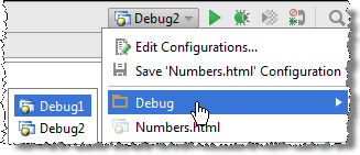 Grouped run configurations