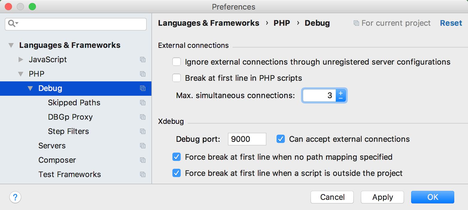 ps settings max debug connections