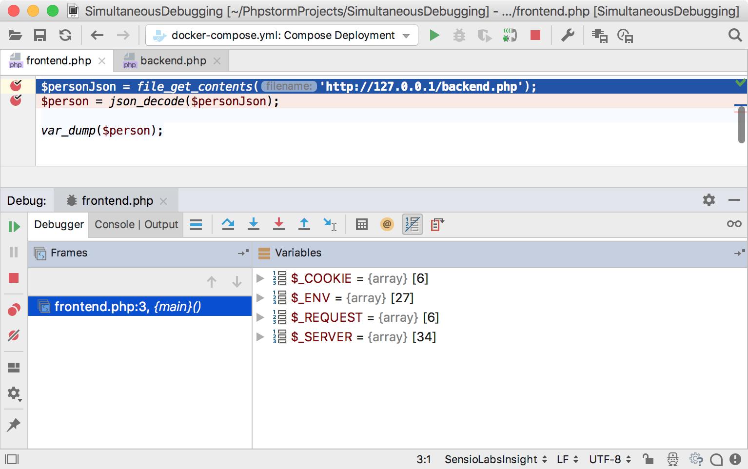 ps simultaneous debugging 1