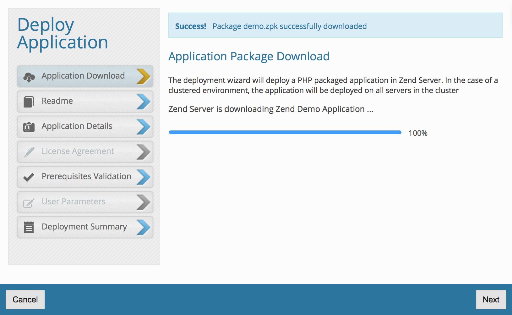 Download Zend demo app