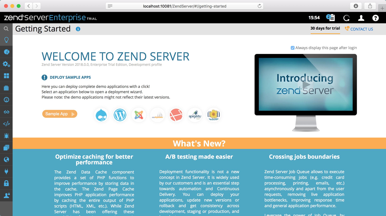 Zend start page