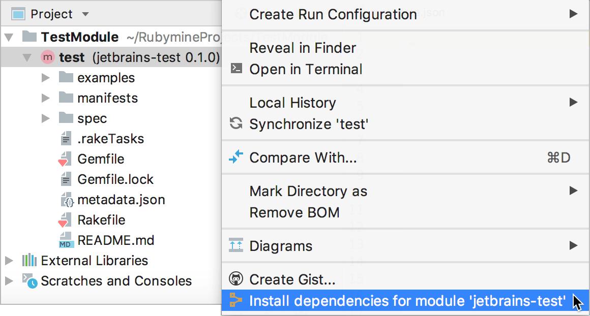 Puppet install dependencies