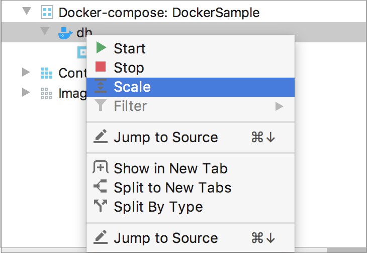 The Scale context menu item
