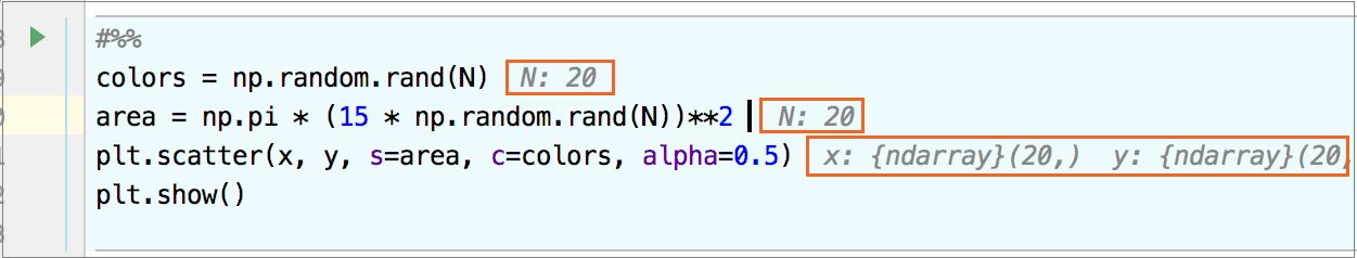 Inline variables in the source editor