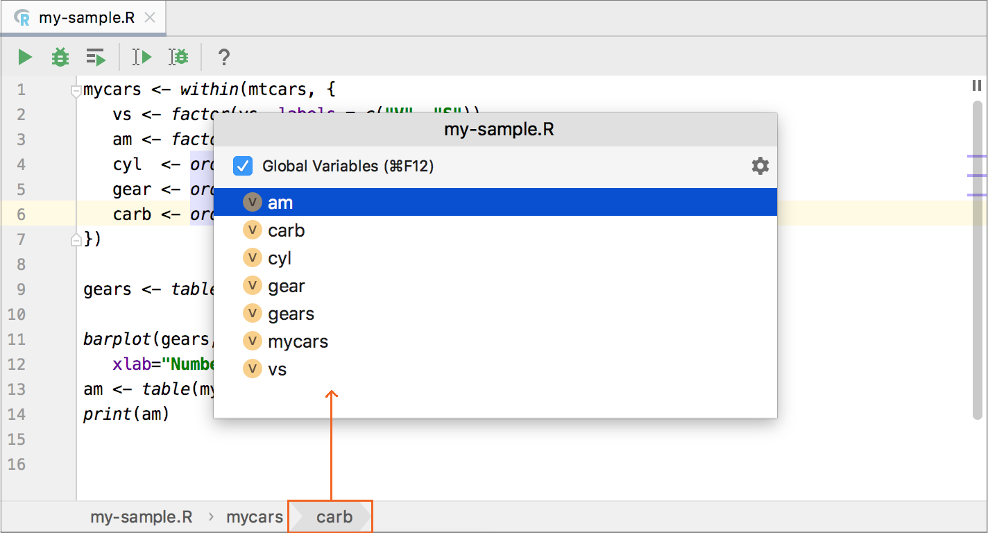 View the R file structure