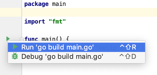 Run your code from the gutter