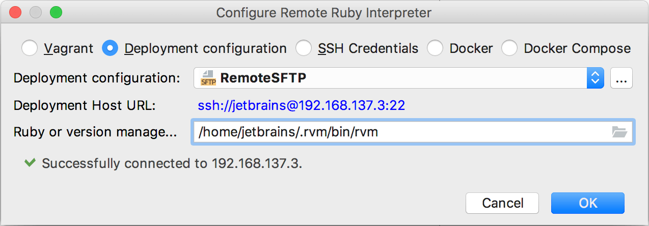 rm remote sdk deployment config