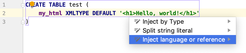 Injecting HTML