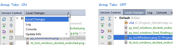Group tabs result