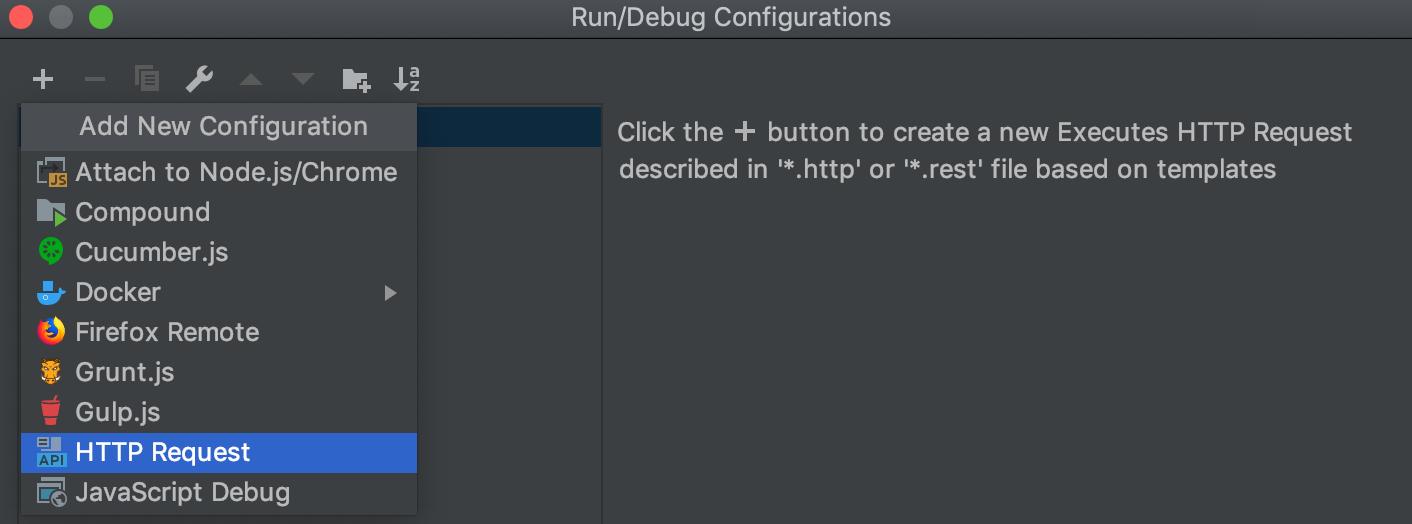 HTTP client in WebStorm code editor - Help   WebStorm