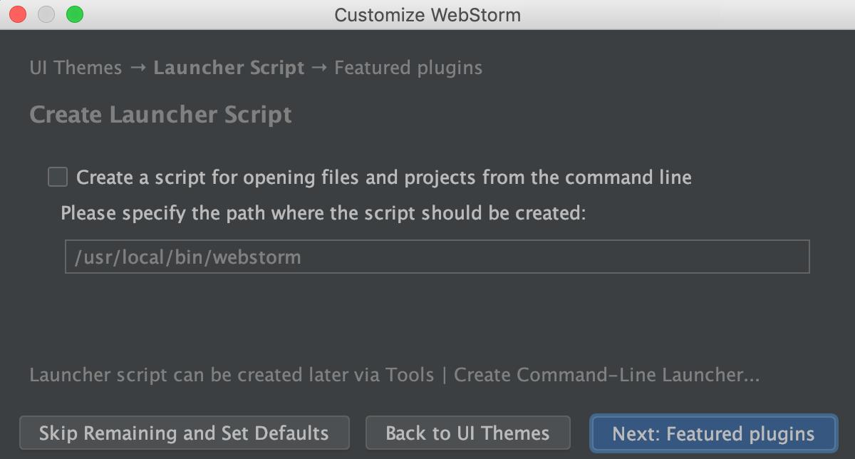 Create Launcher Script