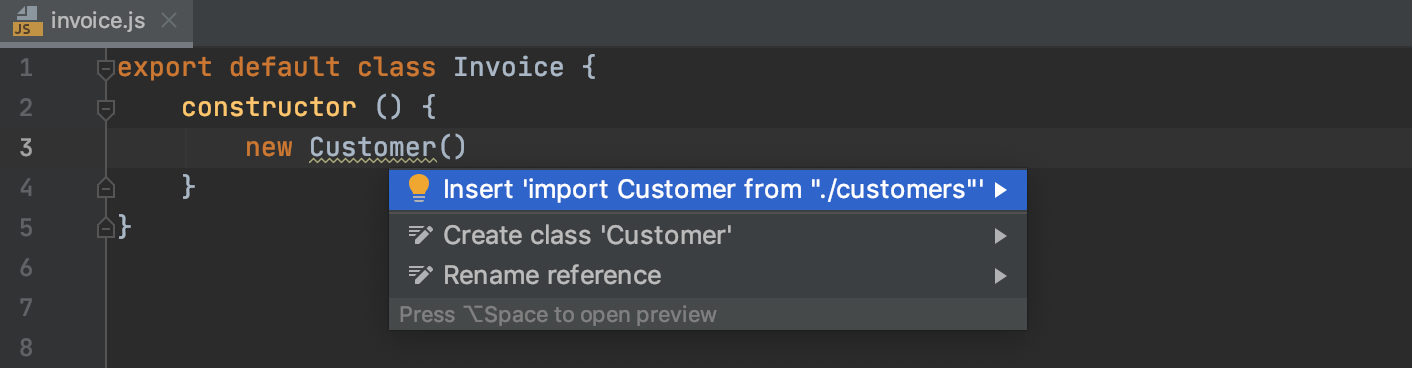 Autoimport with quick-fix: suggestion list