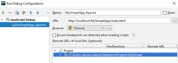 URL to run your application