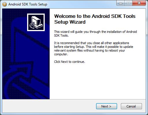 AndroidSDKToolsSetup