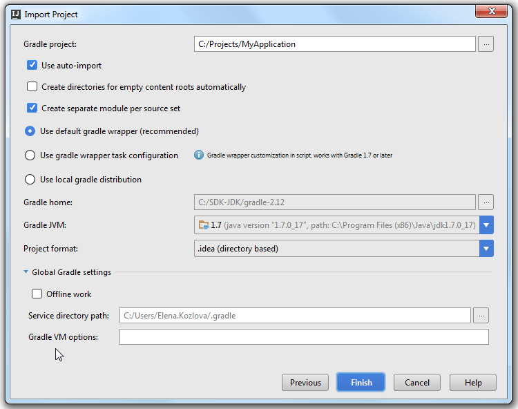 Import Android Gradle Project step3