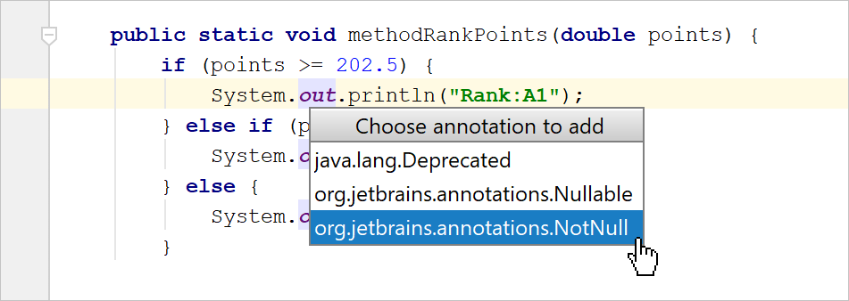 Adding a new external annotation