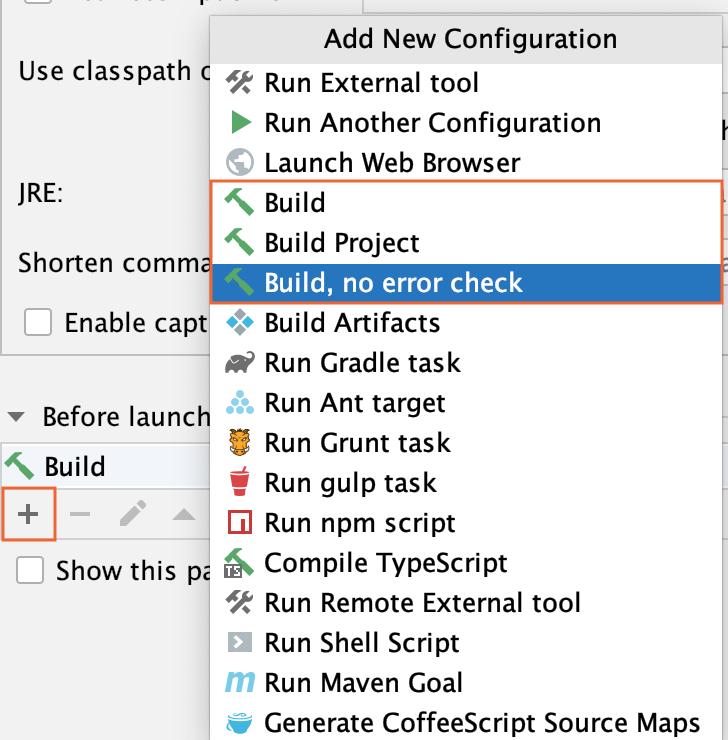 Run/Debug Configuration: Add new configuration.