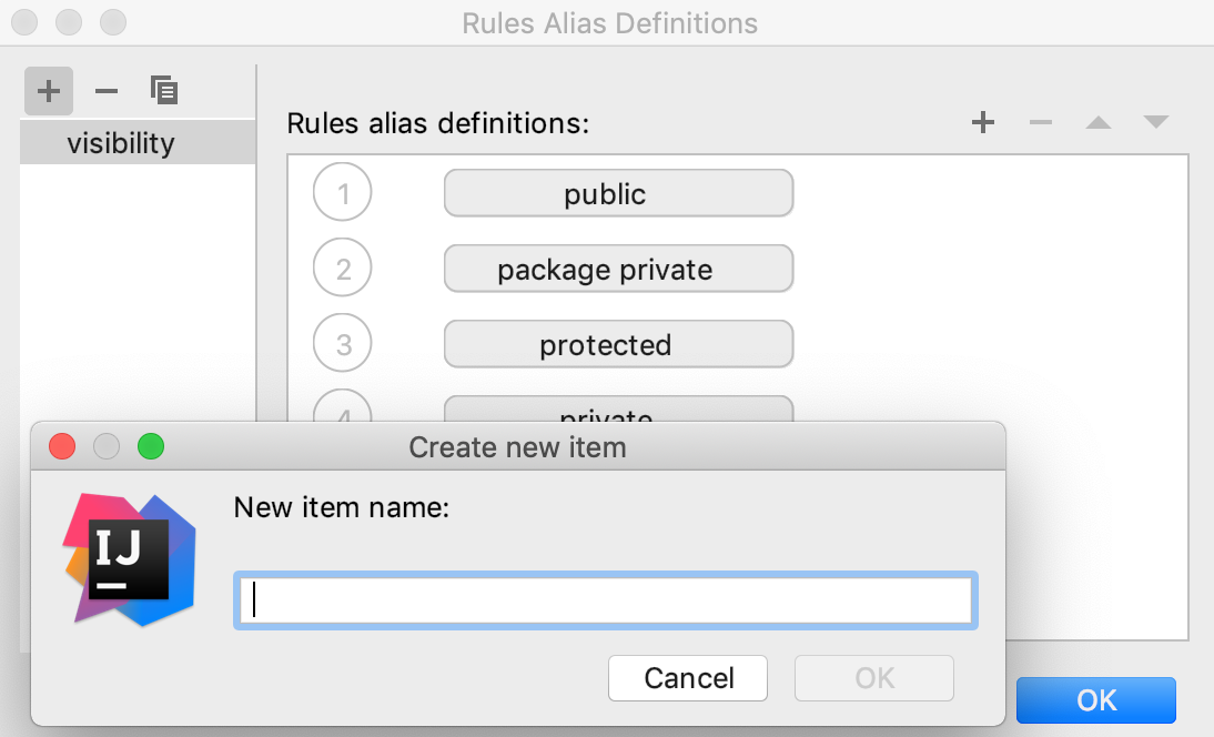 Rules Alias Definitions