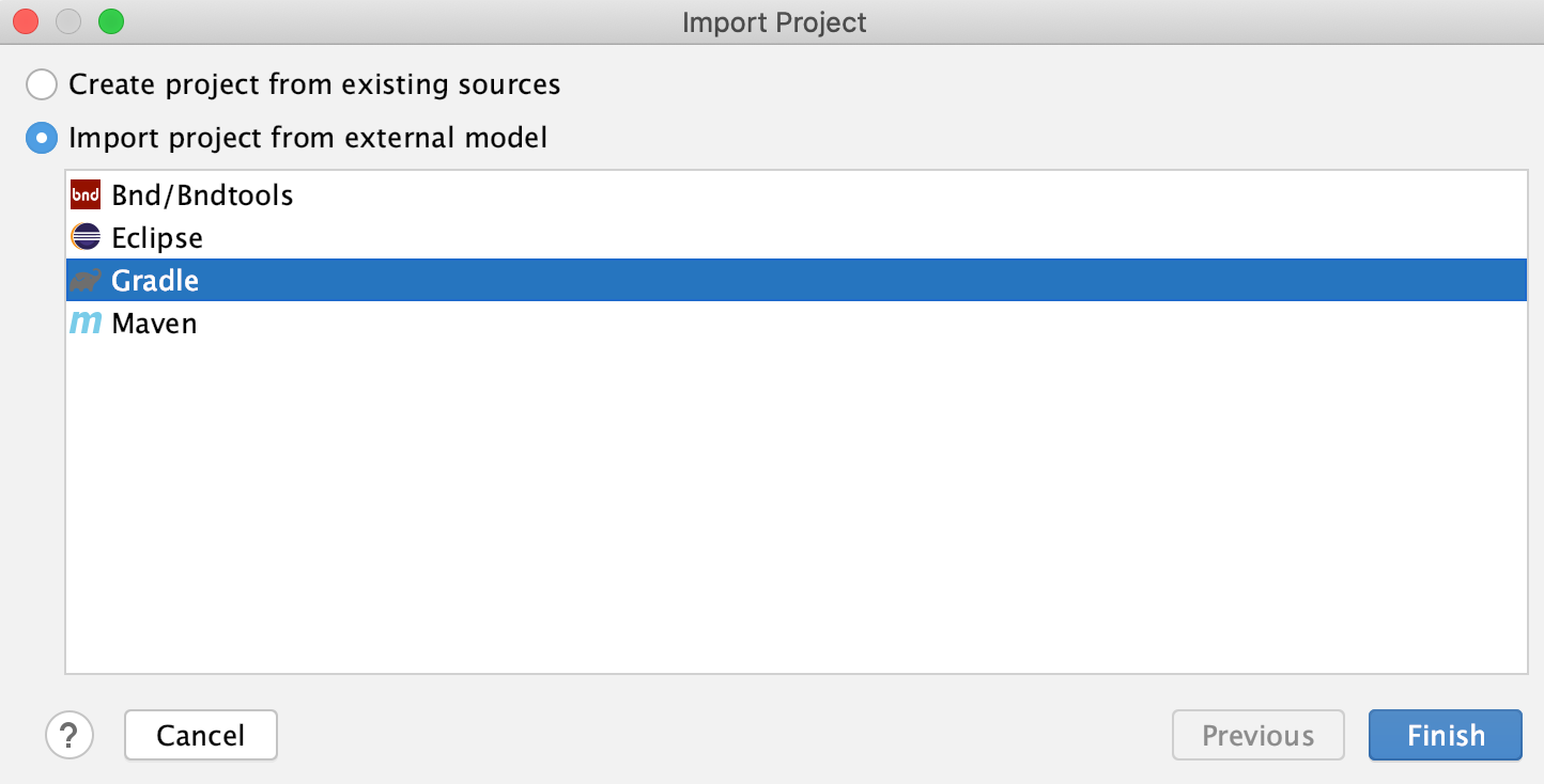 New Project: External model