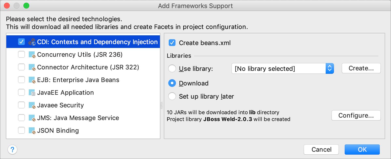 Adding CDI support