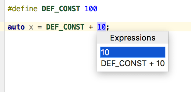 cl ExtractConstant cppexample