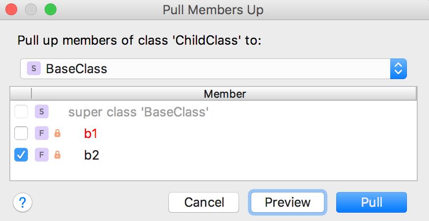 Pull members up error 1