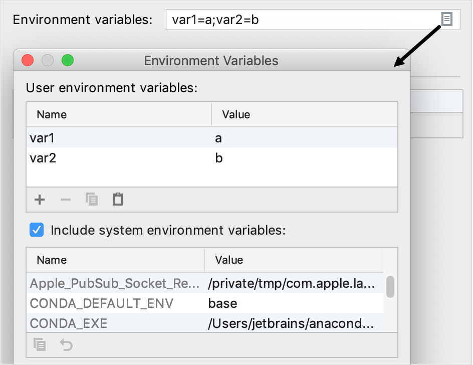adding environment variables