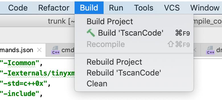 custom application build menu