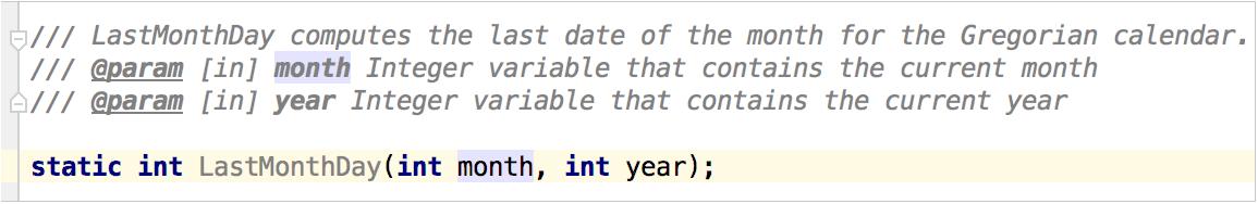 Renaming example - before