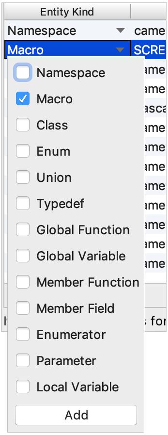applying naming rule to multiple code entities