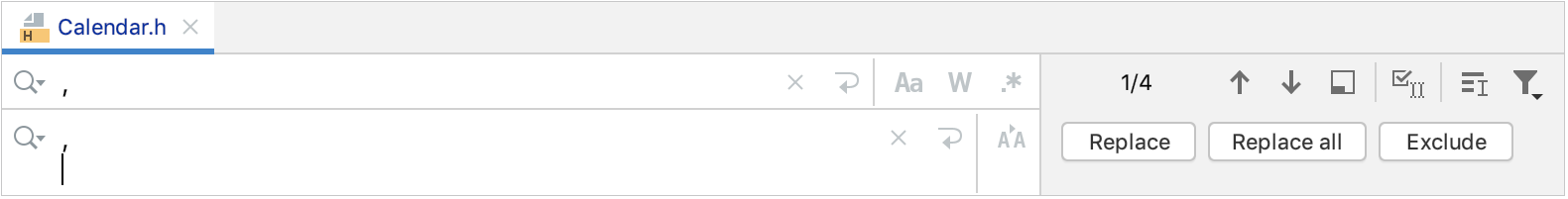Replace search string in file