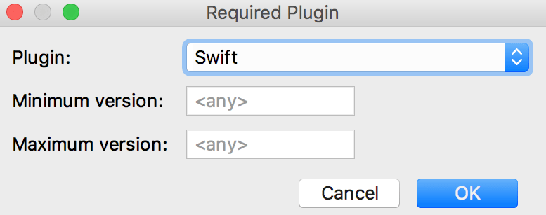 Add required plugin dialog