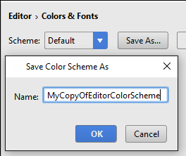 copy editor color scheme