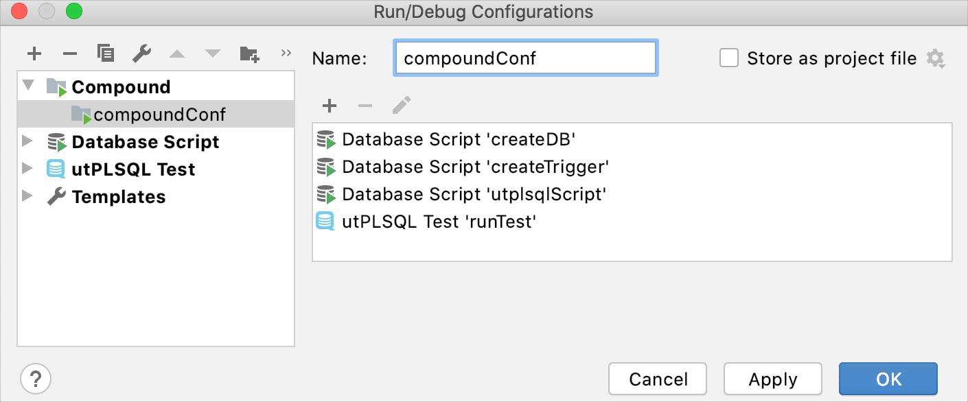 Create a compound run configuration
