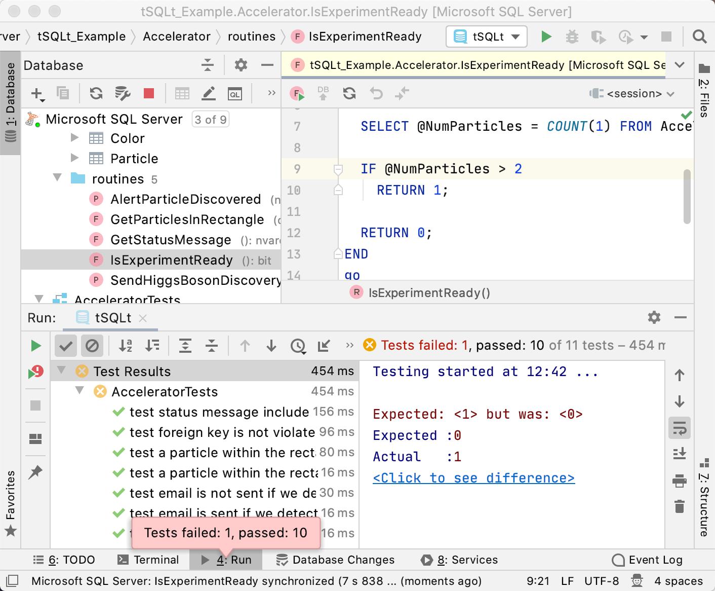 Testing with tSQLt