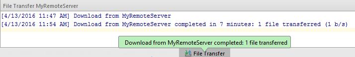 Deployment download file transfer