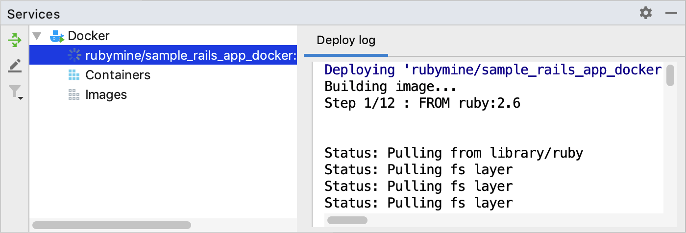 Docker tool window