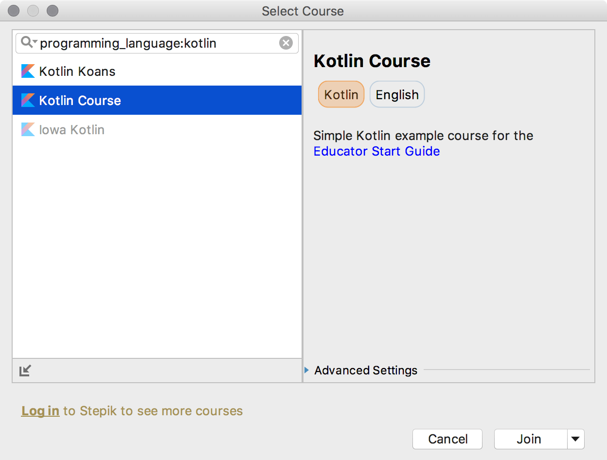 edu course imported kotlin