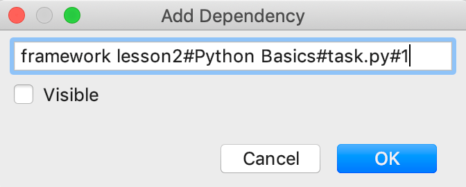 edu framework lesson add dependency python