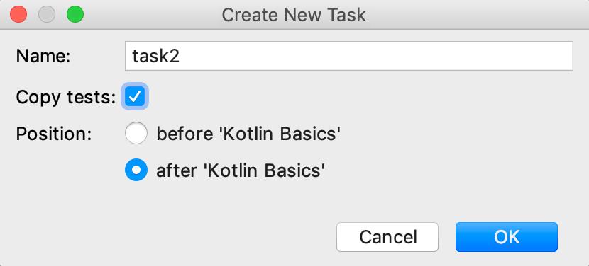 edu framework lesson task with dependency kotlin