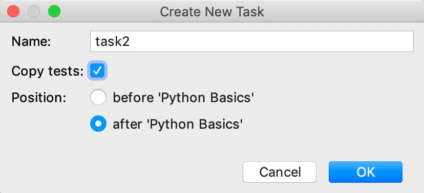 edu framework lesson task with dependency python