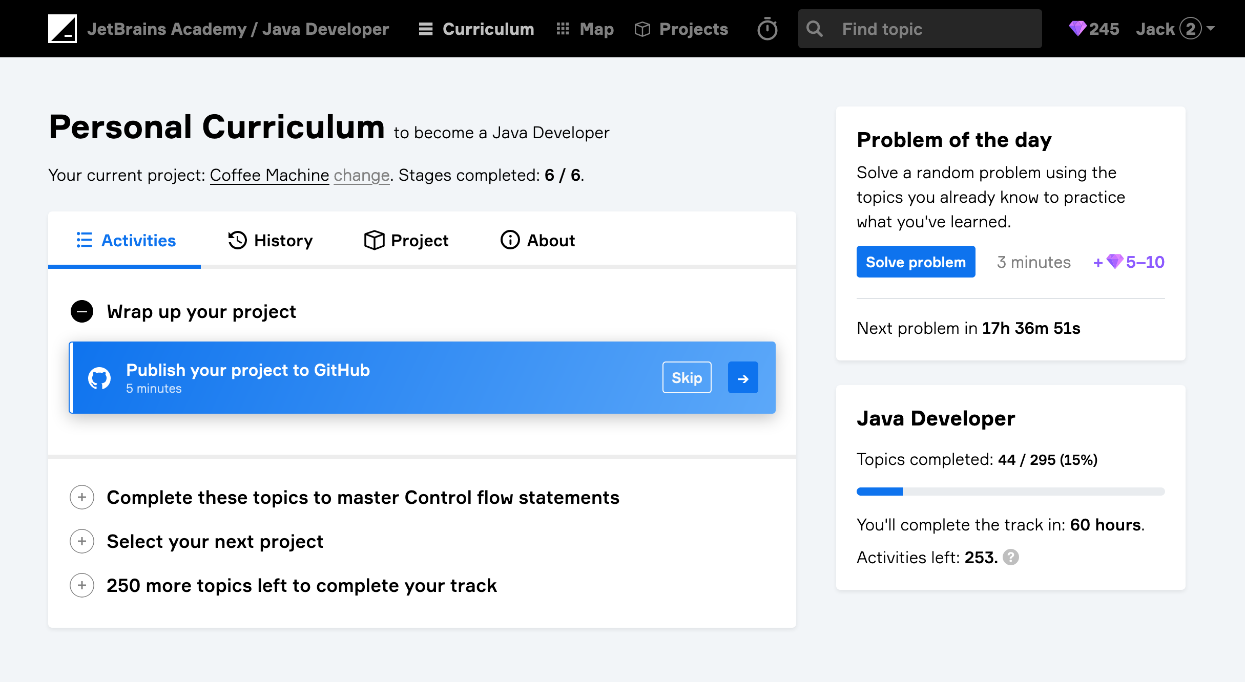 edu jba publish to github java
