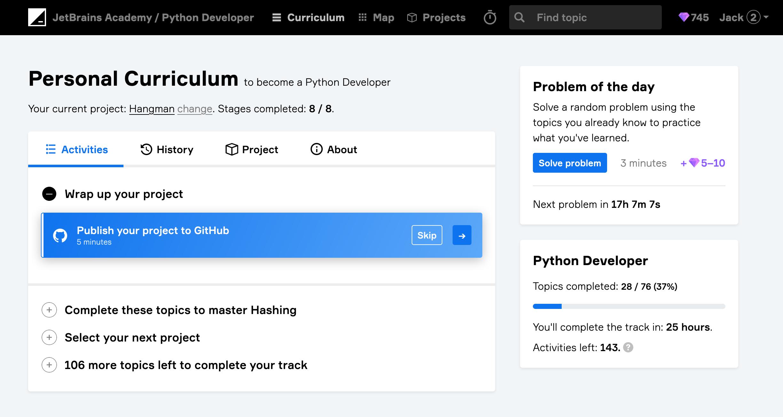 edu jba publish to github python