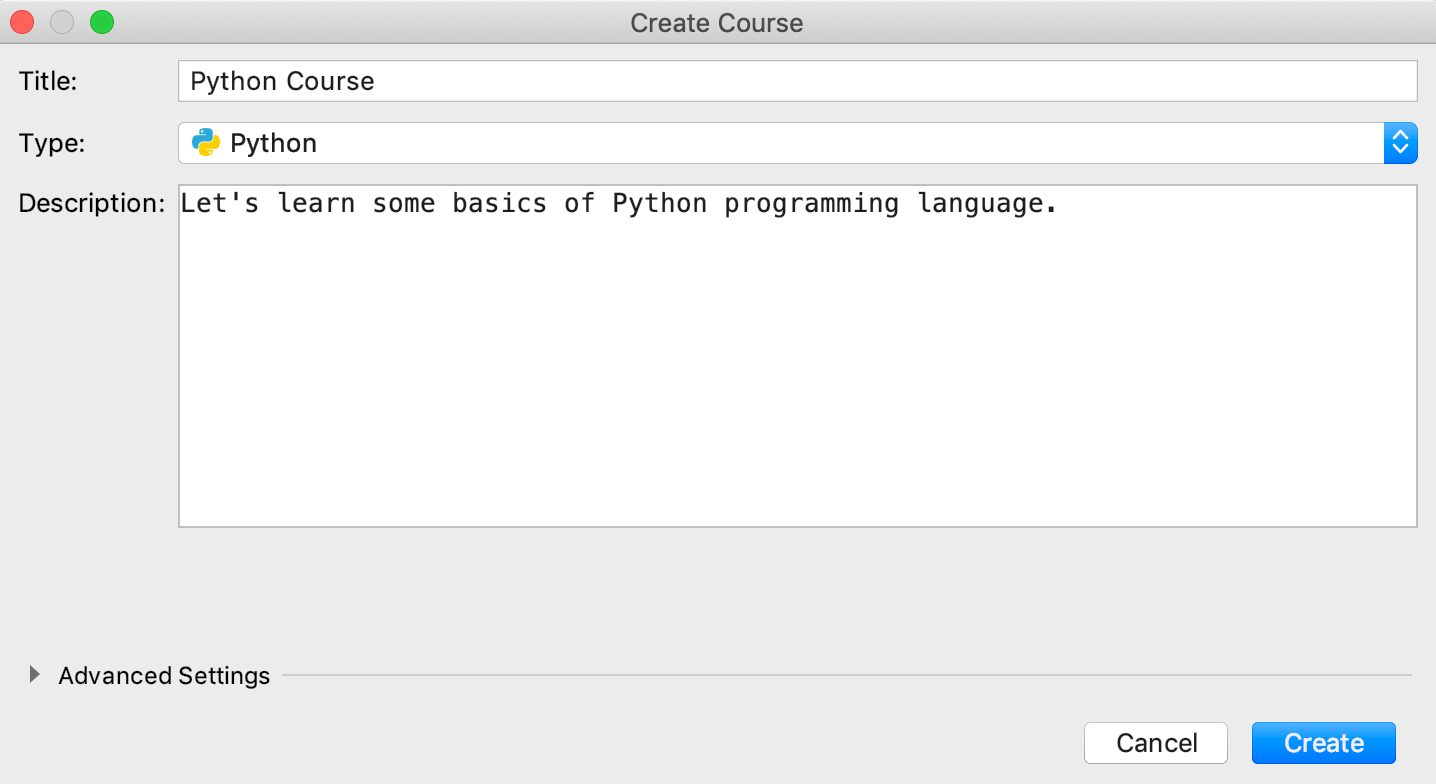 edu new course python