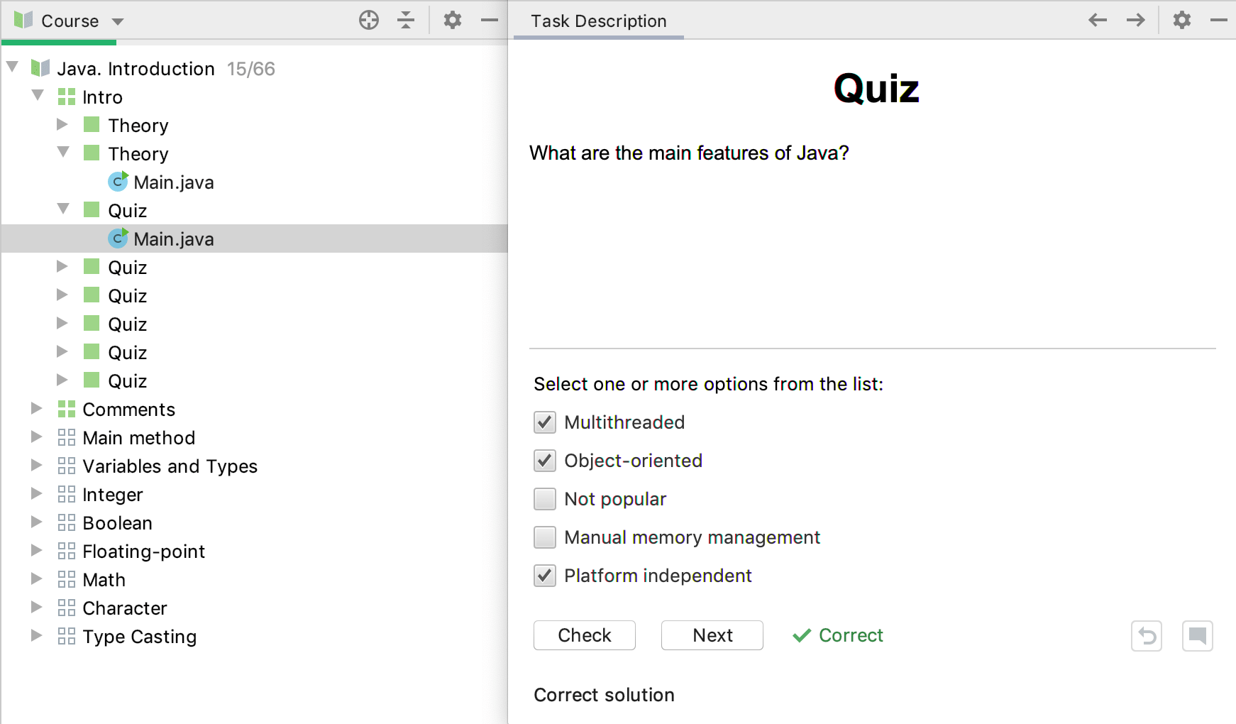 edu quiz check java intro